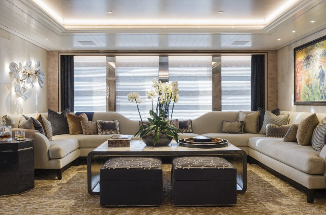 Interiors of M/Y Joy by Studio Indigo